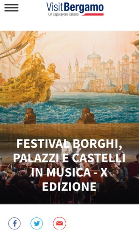 Articolo sul portale Visit Bergamo
