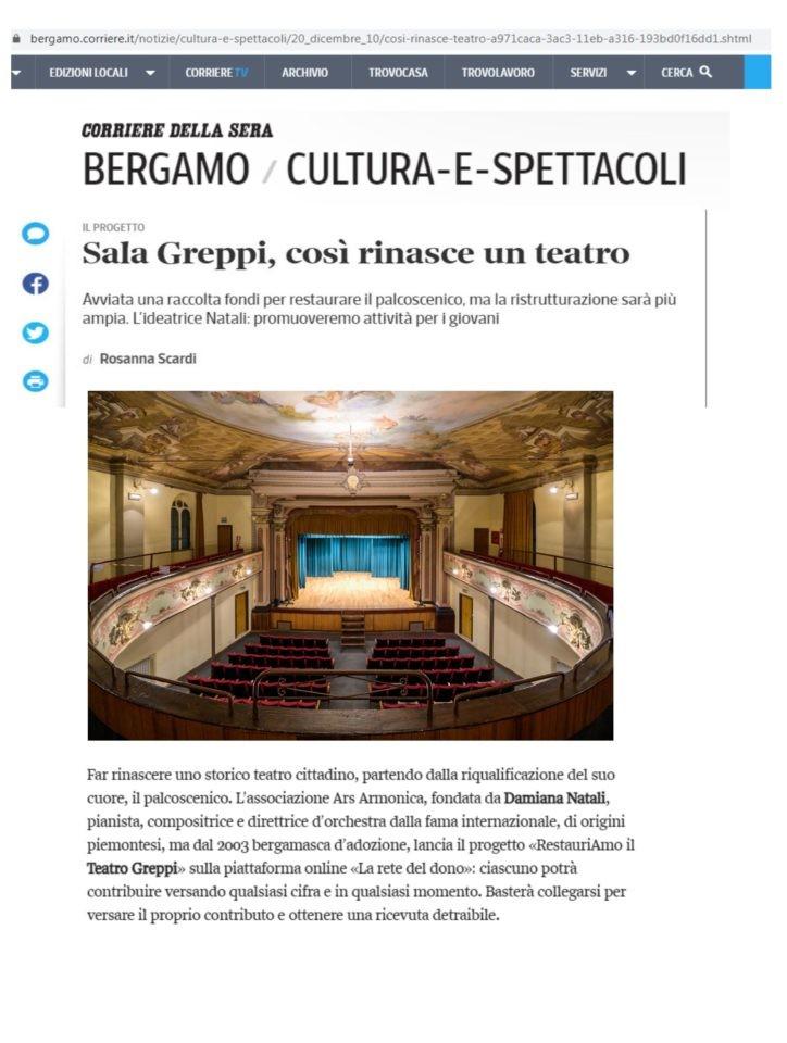 Articolo su Rete del Dono - Corriere Online