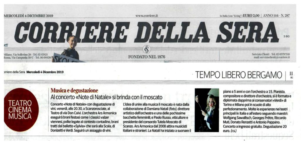 Corriere della Sera, Note di Natale 2019